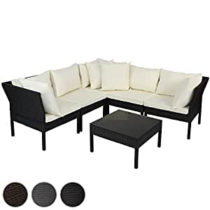 Miadomodo set mobili giardino salotto da giardino con for Salotto da giardino amazon
