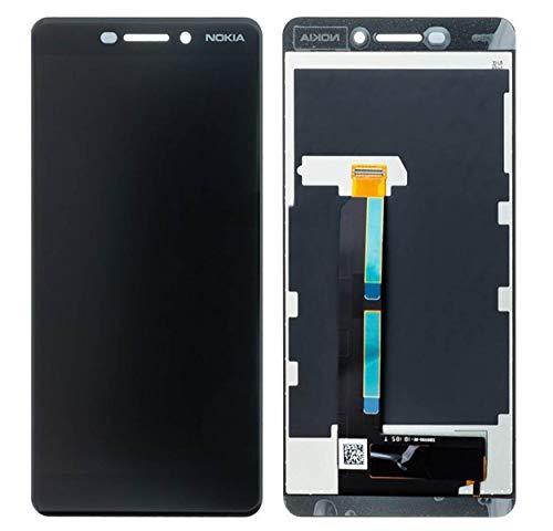 Handyteile24 ✅ Original Nokia 6.1 LCD Display Touchscreen Bildschirm Anzeige Digitizer Glas Schwarz Black -