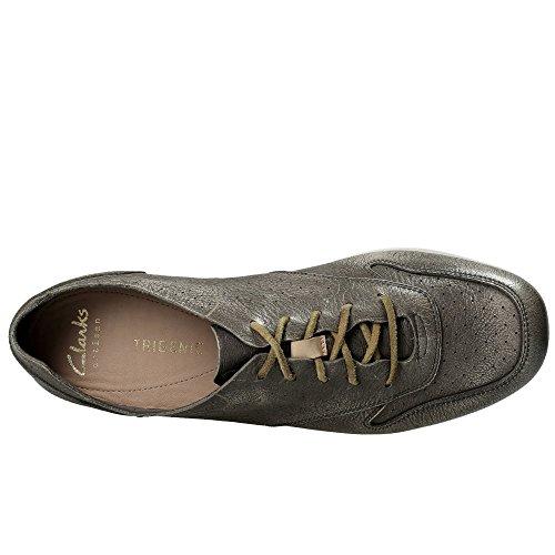 Clarks Damen Tri Actor Sneakers Silber