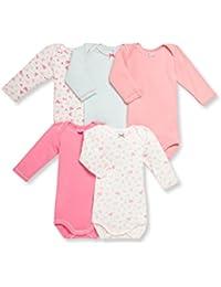 Petit Bateau Baby-Mädchen Body 5er Pack