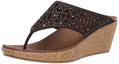 Skechers Damen Beverlee - Summer Visit Sandalen, Braun (Chocolate), 39 EU (Open-toe Boot Sandale)