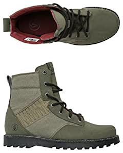 Volcom Femme Hemlock de bottes pour femmes - Vert - Militaire/zip jaune, 38.5