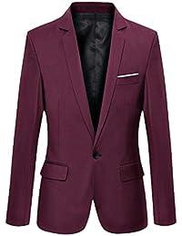 YOUTHUP Gilet di Matrimonio Sera Uomo Senza Manico Gilet Costume Stampato Collo V Slim Fit Sottile Elegante Rosso XL