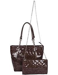 Osaiz Brown Handbag Shoulder Bag With Sling Bag c978d86c1fdfd