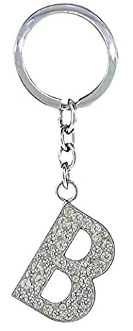BB Accessories Diamante Alphabet Letter Keyring - B