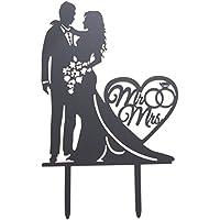 BESTOYARD Sr. y la Sra. Cake Topper Acrylic Cake Decoration Topper Cumpleaños Suministros de la boda