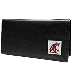 NCAA Washington State Cougars  Leather Checkbook Cover