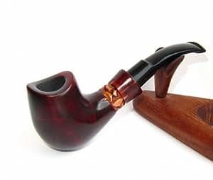 """La pipa fatta del pero di alta qualita, lavorazione a mano """"Sella"""" + la borsa da tabacco."""