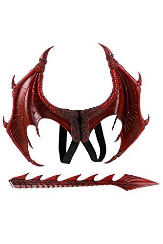 MingoTor Dinosaurier Feuer Drache EIS Drache Flügel Halloween Fasching Cosplay