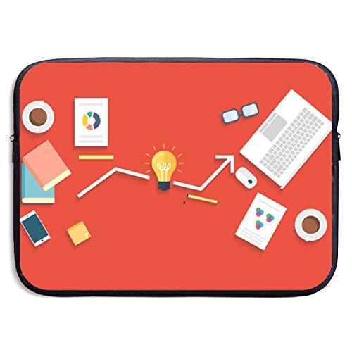 Benutzerdefinierte Laptop-Hülle 13/15 Zoll Tablet Reißverschluss Aktentasche Office Supplies Print Portable Messenger Bag, 15 Zoll