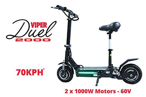 Viper duelo 2000W 60V 2x 1000W 21Ah recargable, de litio de motores...