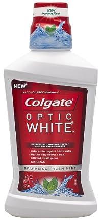 Colgate Colgate Optic White Mouthwash Sparkling Fresh, Mint 16 oz