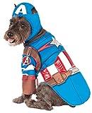 Rubies Costume Avengers Assemble Deluxe Captain America Pet Kostüm, Klein