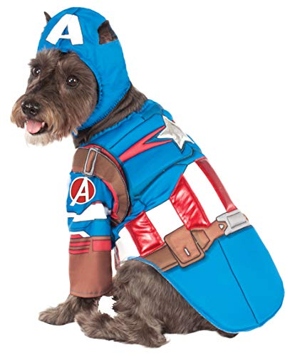 Rubies Costume Avengers Assemble Deluxe Captain America Pet Kostüm, X-Large (Captain America Pet Kostüm)
