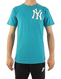 0473be96b37f7 Majestic New York Yankees Noos Gamily Camiseta Hombre Turquesa XXL  (XX-Large)