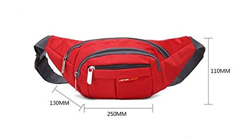 TRRE Outdoor-Reisen Sport Multifunktions-Taschen Männer und Frauen Bergsteigen, L 25xm * W13cm * H11cm Orange