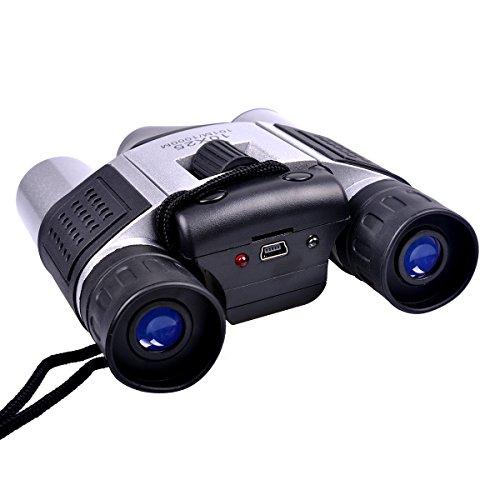 Cámara Digital Stoga de alta tecnología DT08 Telescopio con 1.3 m CMOS Digital Camera 10 x 25 prismáticos de senderismo Negro Telescopio Video Recorder