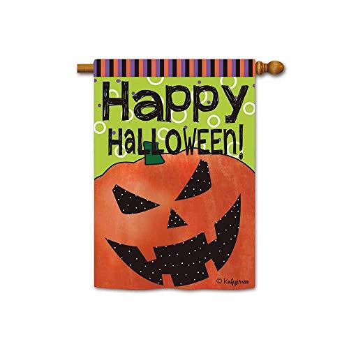 Kafepross Happy Halloween Kürbis Gesicht Dekorative Garten Flagge Jack O LATTERN Decor Yard Banner für Außen Large House flag-28x40 inch 51
