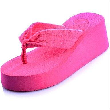 LQXZM sandali estivi all'aperto in Pelle Tacco a cuneo altri verde rosso altri Ruby