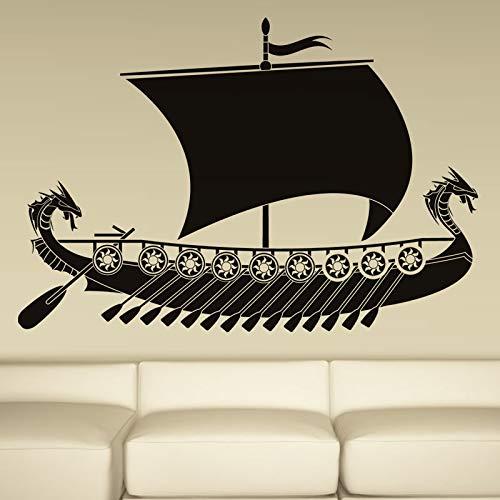 er Schiff Wandaufkleber Kinder Wohnzimmer Wand Dekorative Vinyl Boot Aufkleber Für Sofa Bac 85 cm X 58 cm ()