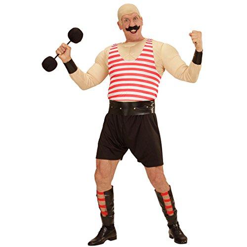 NET TOYS Disfraz de Circo - XL (ES 54) | Traje de Cachas Carnaval | Disfraz Hombre Musculoso | Traje Halterófilo