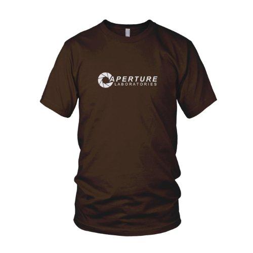 Planet Nerd - Aperture Laboratories - Herren T-Shirt Braun