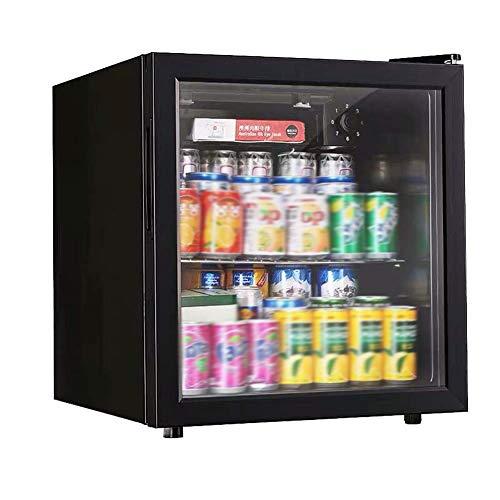 GAONAN 50L in Dosen Getränkekühler und Kühlschrank, Mini-Kühlschrank for Haus, Büro oder Bar mit Glastüren und verstellbaren Einlegeböden
