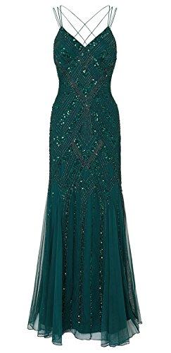 Perla Emerald Maxi Embellished Dress