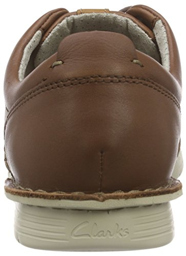 Clarks Polysport Edge, Derby homme Marron (Tobacco Leather)