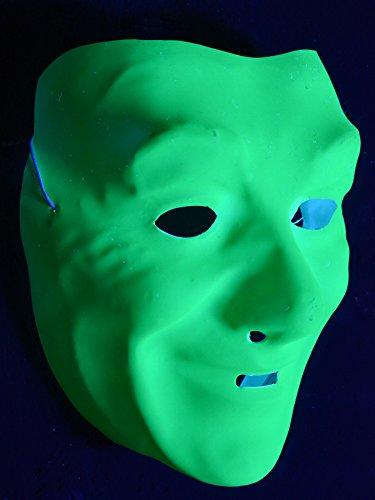 Schwarzlicht Gesichtsmaske für Herren Neon Grün