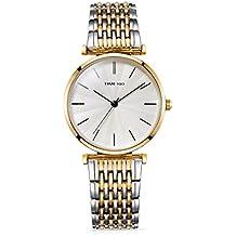Time100 reloj de cuarzo para mujer Lujo Sweet de pétalo diamantes pulsera cuarzo Mujer Reloj de