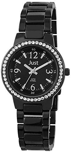 Just Watches 48-S3977A-BK-BK - Orologio da polso da donna, cinturino in acciaio inox colore nero