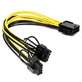 KKY Pcie 8Pin to Two 8-Pin6+2 Pci Express Graphics Power Connectors Cable for Vide