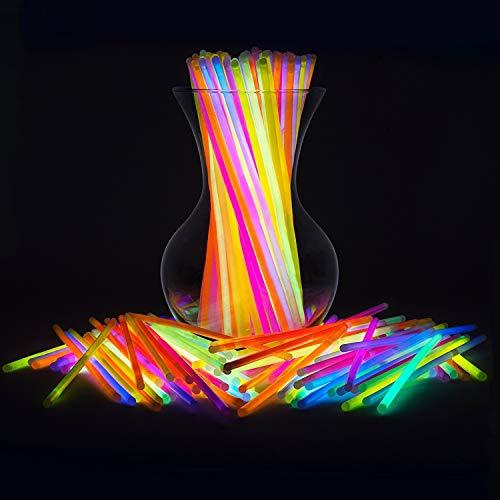 Imagen de pulseras luminosas, pack de 200 pulseras fluorescentes glow pack multicolor, varitas luminosas para fiestas 20 cm  pulseras, collares, kits para crear gafas alternativa