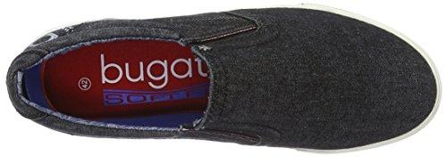 Bugatti K48686j, Scarpe da Ginnastica Basse Uomo Nero (Schwarz 100)