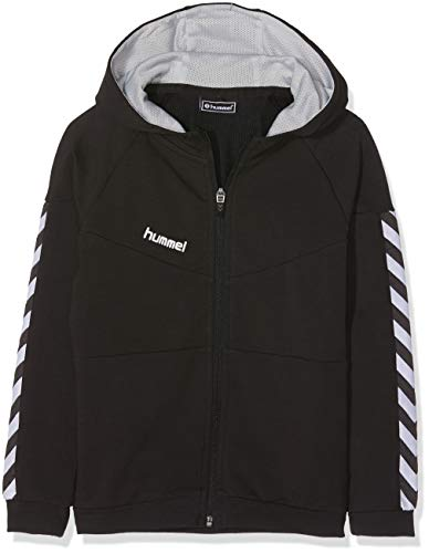Hummel Kinder Court Cotton Zip Hoodie Jacke, Black, 152