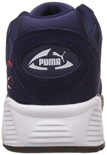 Puma Unisex-Erwachsene Prevail Low-Top, 42.5 EU Blau (peacoat-barbados cherry-puma white 03)