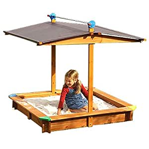 bac sable avec toit relevant mickey test et approuv par le bureau des tests allemand t v. Black Bedroom Furniture Sets. Home Design Ideas