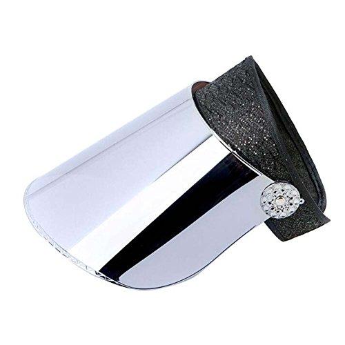 Black Temptation Chapeaux de visière de Large Bord de Chapeau de Dame Protection UV Chapeaux de Soleil d'été Empty-Support #1