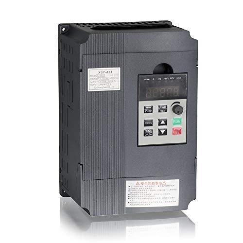 Mysweety VFD Wechselrichter Frequenzumwandler 1,5 KW 3 PS 220 V 8 A für Spindelmotor Drehzahlregelung (VFD-1,5 kW) -