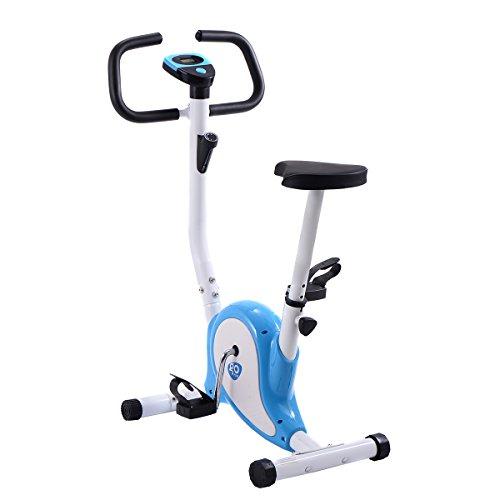 COSTWAY LCD Fitnessfahrrad Ergometer Heimtrainer Fahrradtrainer Hometrainer Trimmrad Fitnessbike...