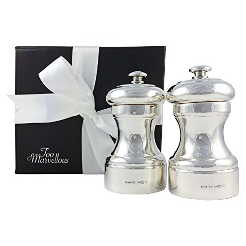 Sterling Silver Peugeot Salt and Pepper Grinder Mill Gift set by Too Marvellous