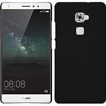 Funda Rígida para Huawei Mate S - goma negro - Cover PhoneNatic Cubierta + protector de pantalla