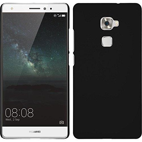 PhoneNatic Case kompatibel mit Huawei Mate S - Hülle schwarz gummiert Hard-case + 2 Schutzfolien