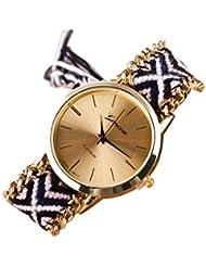 Reloj - GENEVA Reloj de pulsera de cadena trenzada de mujer (Modelo 11)