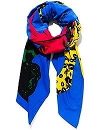 Desigual Women's Scarf Multicolour blue One size
