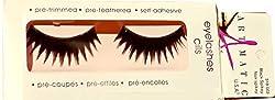 ARTMATIC Imported 1 Pair Black Natural Thick Long False Eyelashes with Adhesive - 518-003