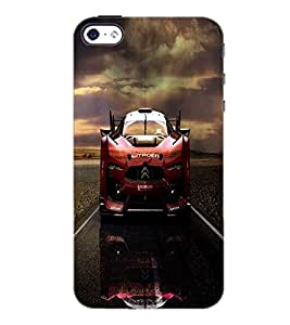 PrintDhaba Car D-4388 Back Case Cover for APPLE IPHONE 4S (Multi-Coloured)
