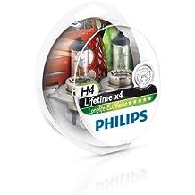 Philips 12342LLECOS2 LongLife EcoVision - Bombillas para faros delanteros (H4, 2 unidades)