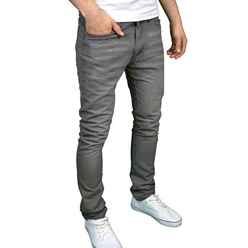 SoulStar Designer-Jeans für Herren, enge Passform Grau - Grau ...
